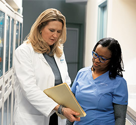 doctor and nurse consulting